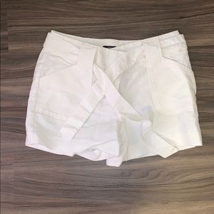 White Belt Tie Shorts